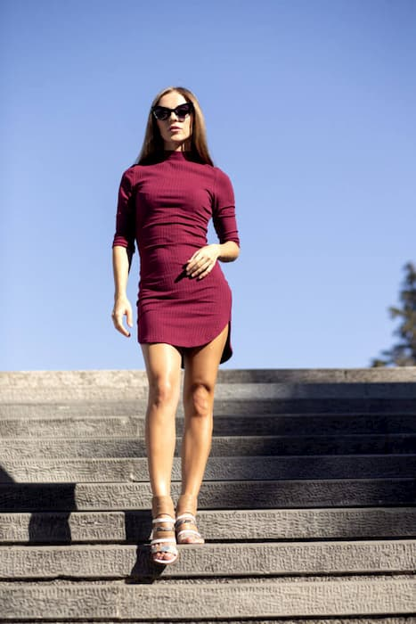 4f28a7ad15 burgundy dress SheIn buy online cotton 100%
