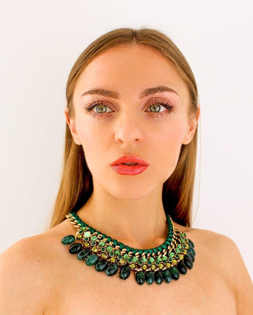 empowering women fashion and makeup green eyes
