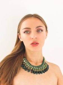 Green emeralds beauty makeup face