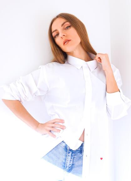 white cotton shirt Moschino