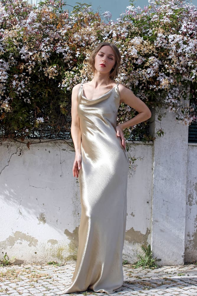 Elegant dress for a wedding guest