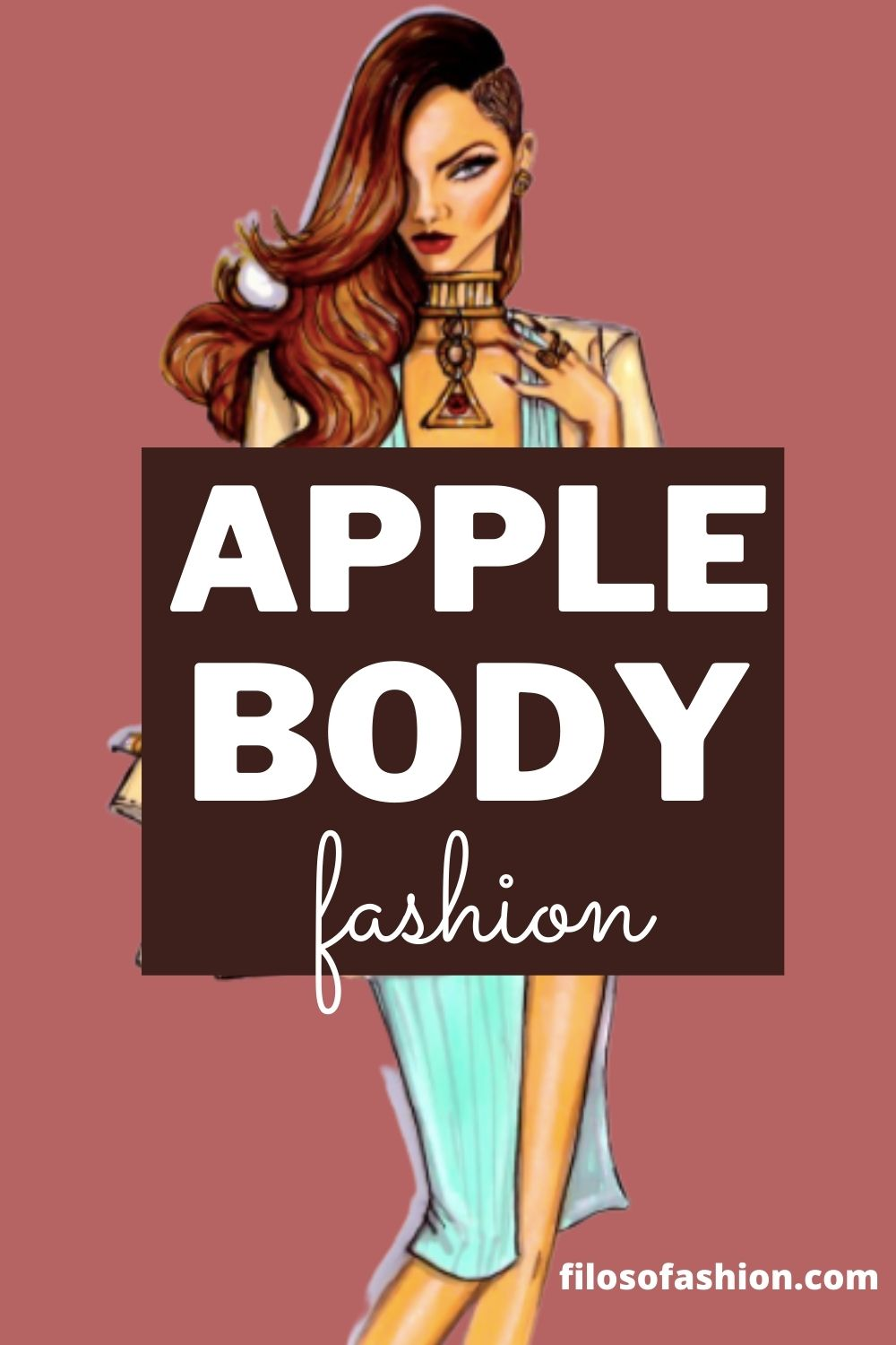 how to dress for an Apple body shape