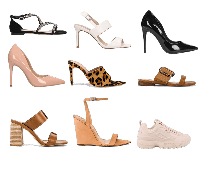 Capsule wardrobe shoes