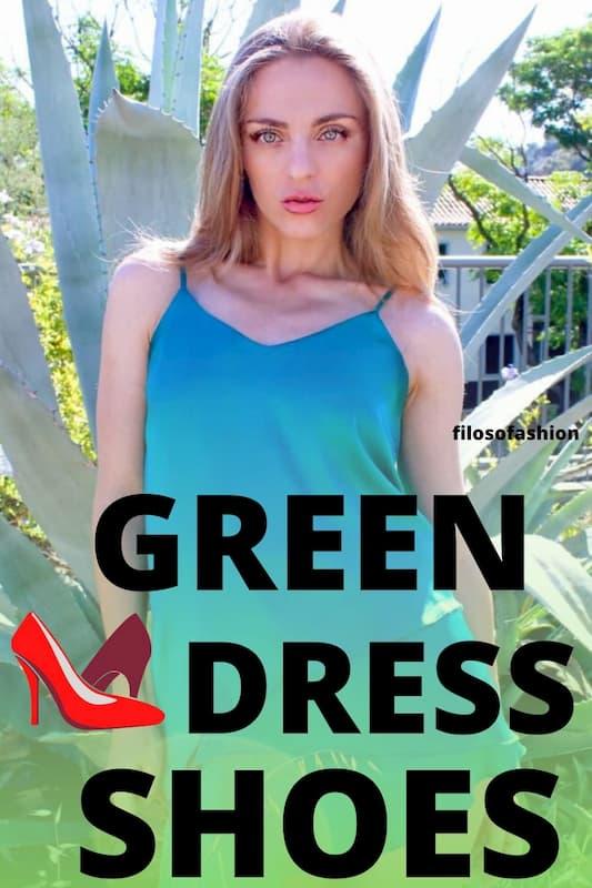 green dress shoes