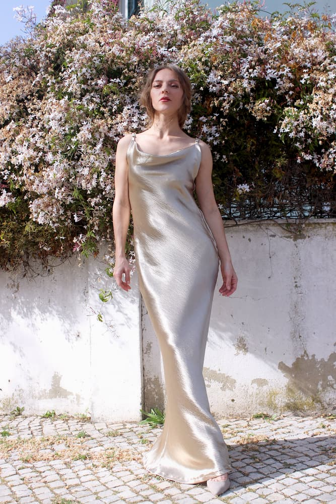 Elegant dress for a wedding guest