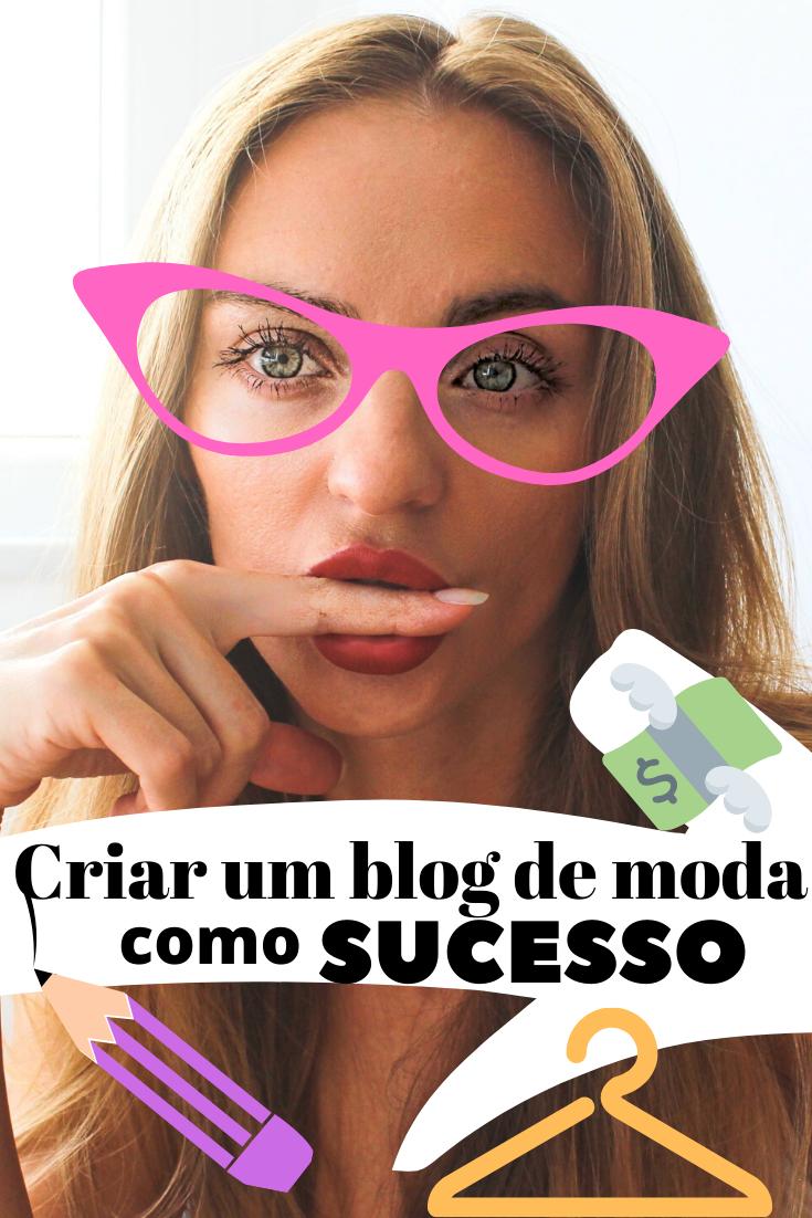 como criar um blog de moda