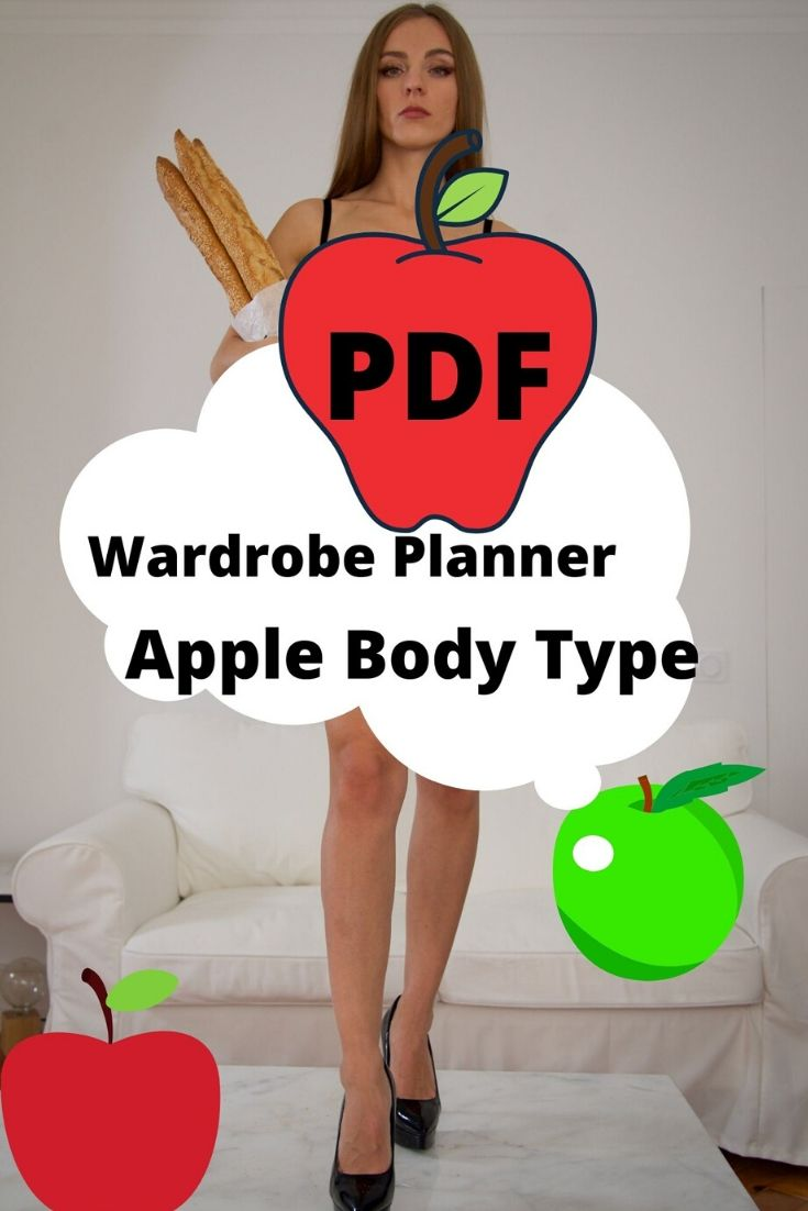apple body type wardrobe planner printable