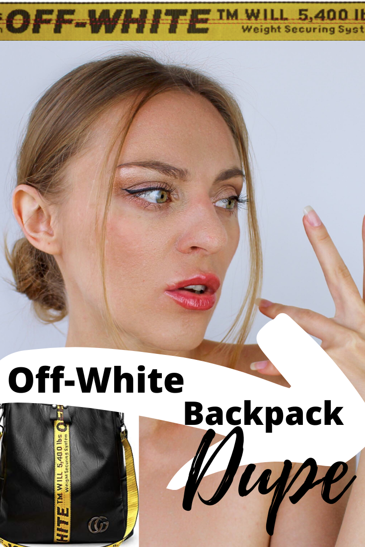 Off-white backpack dupe