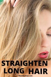 straighten long hair