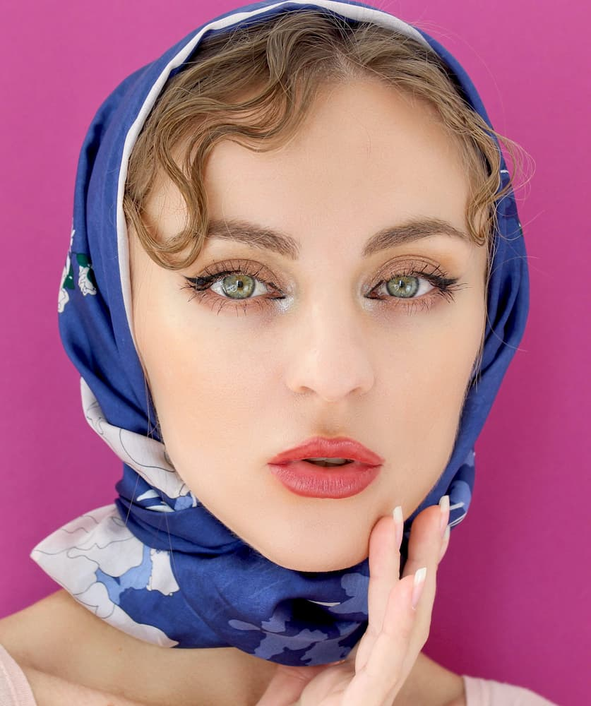 silk head scarf amazon