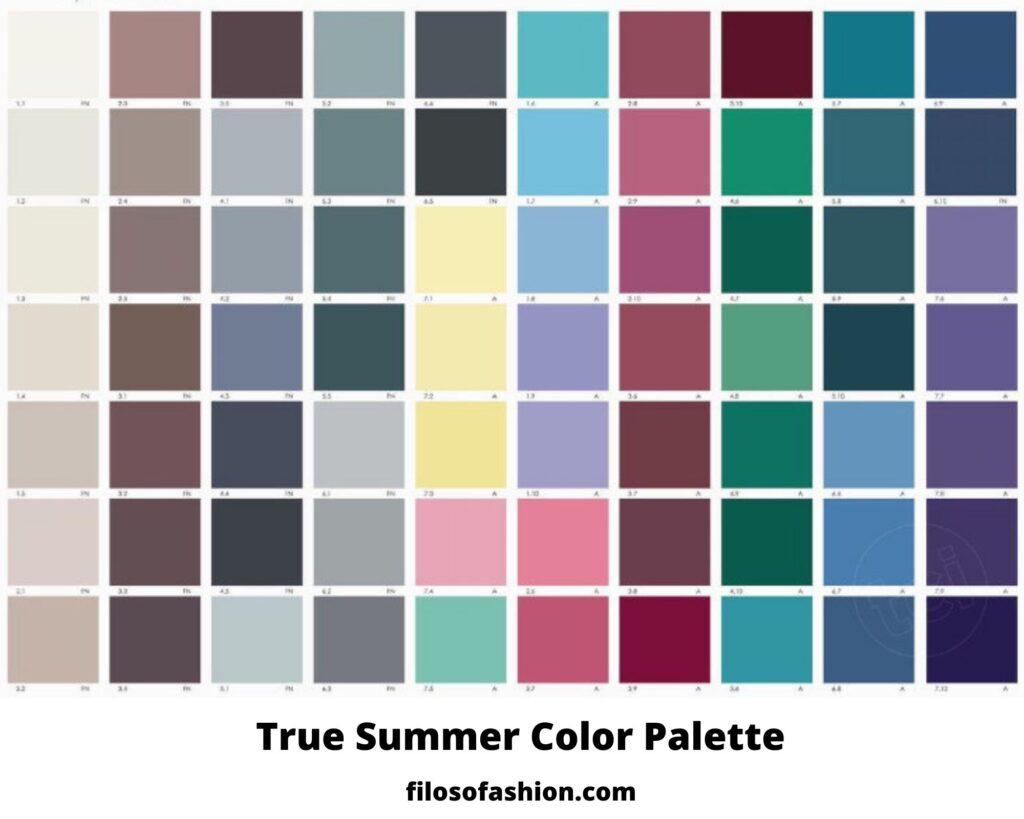 true summer color palette