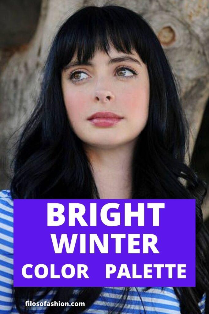 bright winter color palette