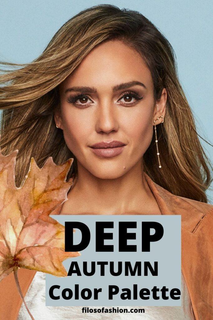 deep autumn color palette