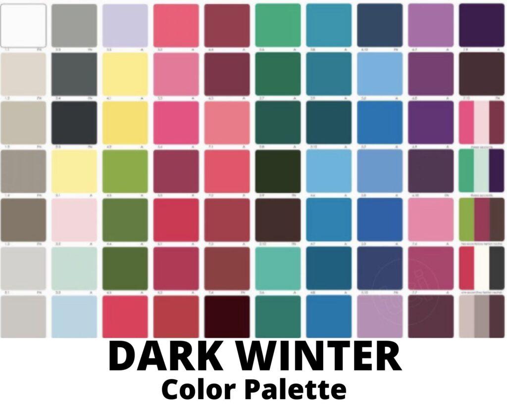 dark winter color palette