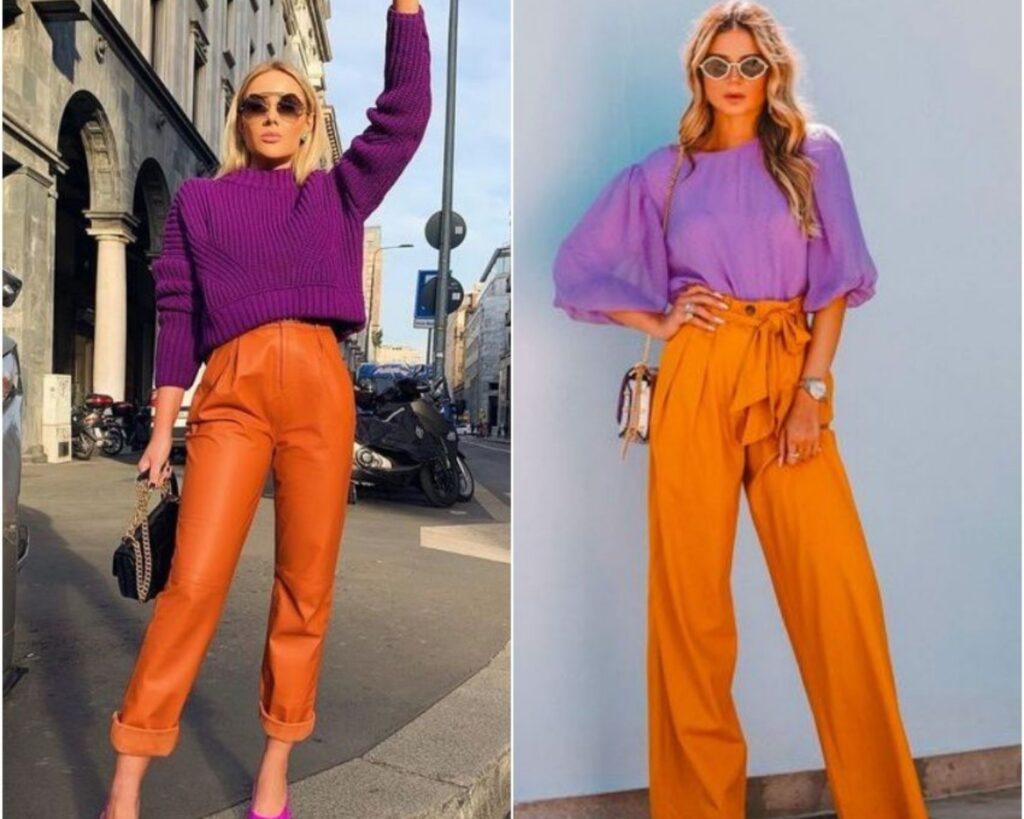 color palette with orange
