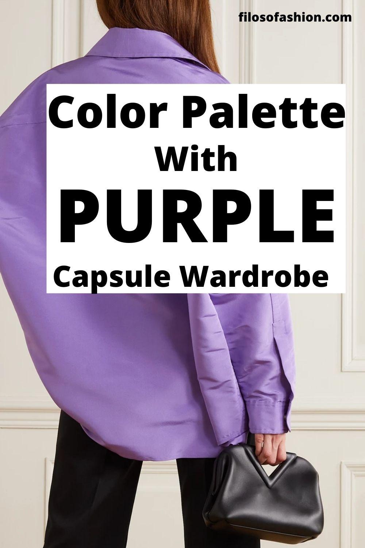 Color Palette With Purple