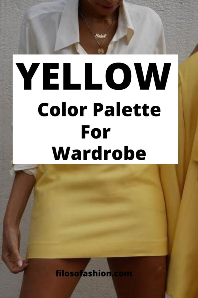 color palette with yellow