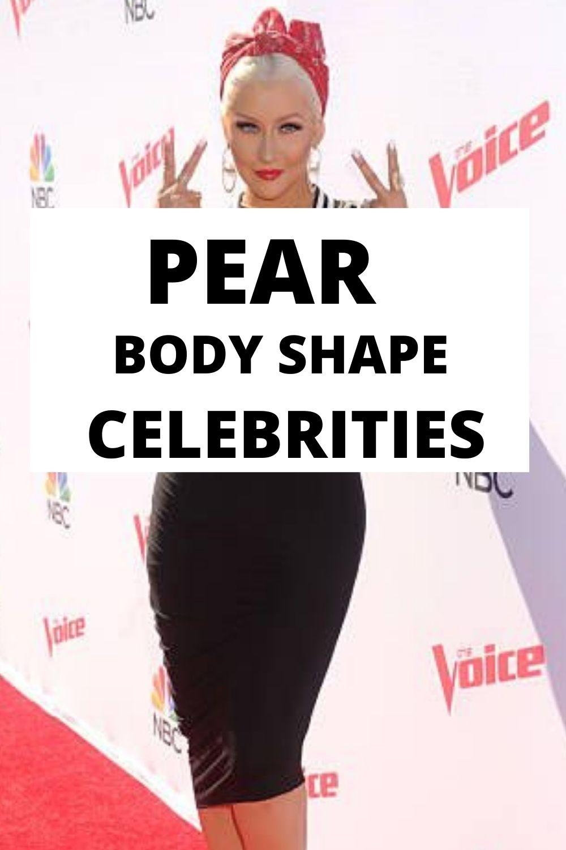 pear body shape celebrities